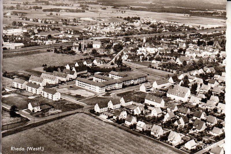 4840 RHEDA - WIEDENBRÜCK, Luftaúfnahme Rheda, 1960, rücks. kl. Klebereste
