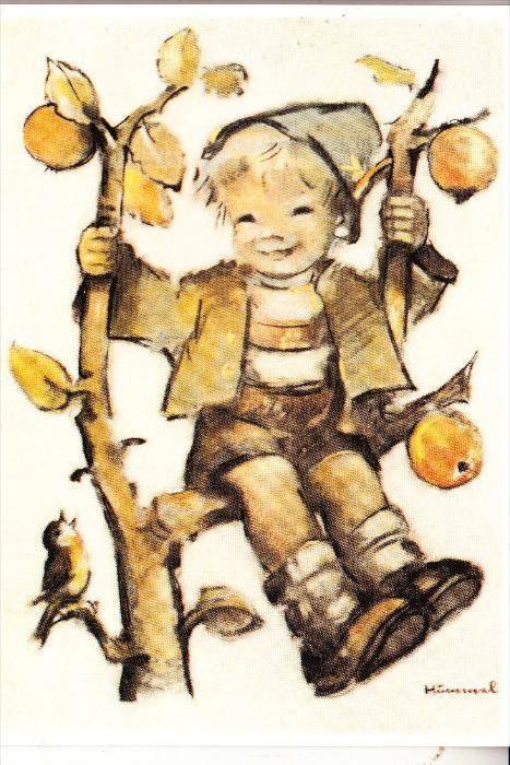 KÜNSTLER - HUMMEL, Sitzt ein Büblein auf dem Baum