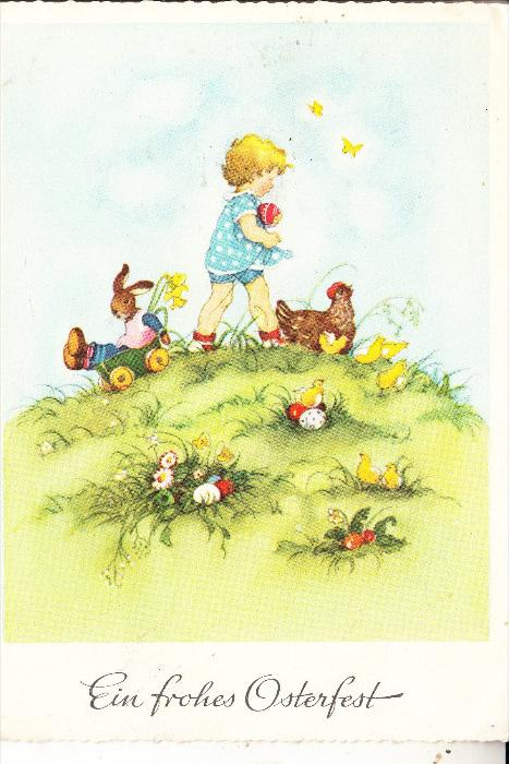 KINDER / Children / Enfants / Bambini / Ninos / Kinderen - Künstler-Karte Fritz Baumgarten ??
