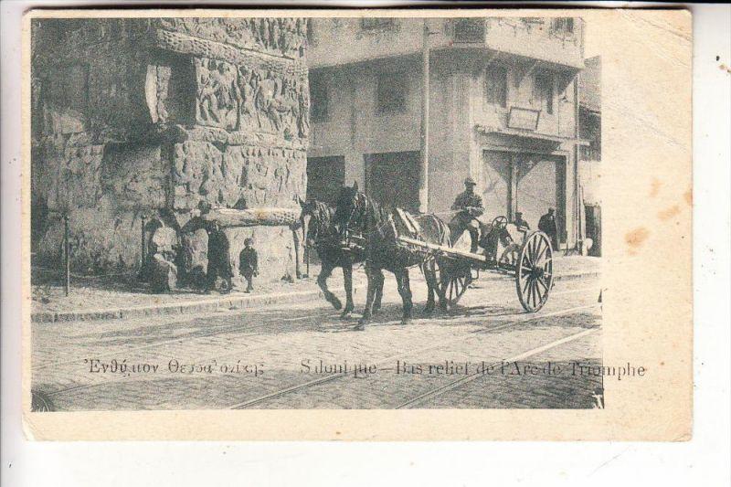 SALONIQUE - Arc de Triomphe, street scene