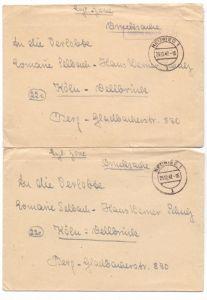 5450 NEUWIED, GEBÜHR BEZAHLT, 2 Briefe, 1947 0