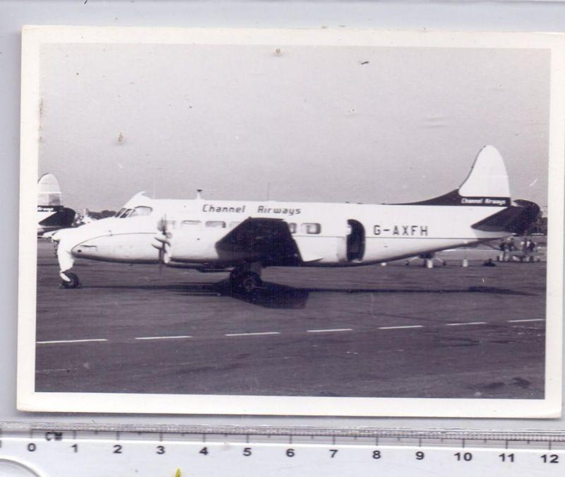FLUGZEUGE - CHANNEL AIRWAYS, De Havilland DH-114 Heron, Photo 12,6 x 9 cm