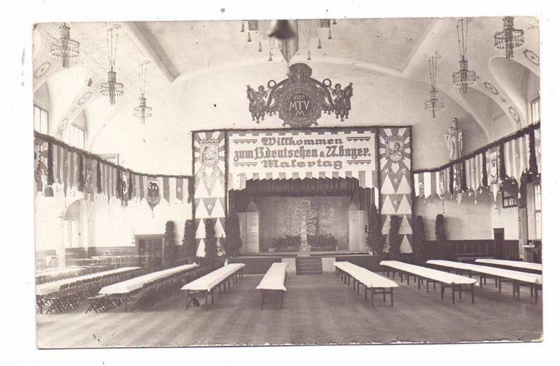8000 MÜNCHEN, Ereignis, 13. Deutscher & 27. Bayerische Malertag im Saal des MTV 1879, 2 Photo-AK