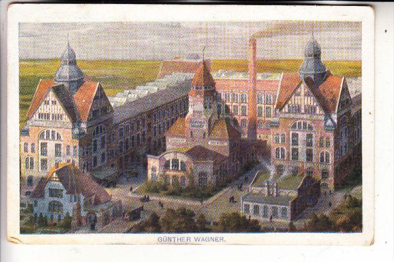 3000 HANNOVER, Werbe-Karte Fabrik Günther Wagner, 1911