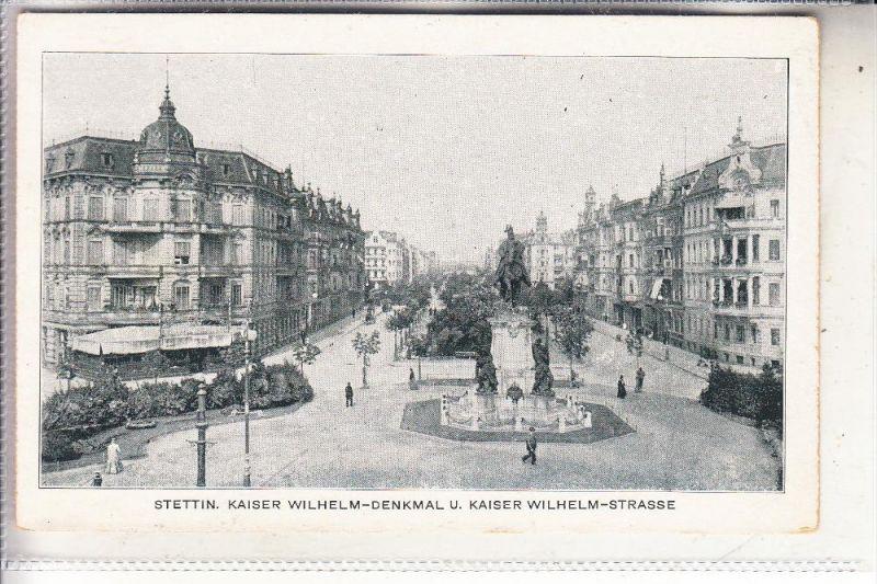 POMMERN - SZCZECIN / STETTIN, Kaiser-Wilhelm-Denkmal, Kaiser-Wilhelm-Strasse