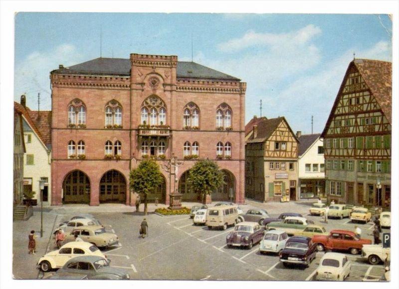 6972 TAUBERBISCHOFSHEIM, Rathaus, Marktplatz, 1965