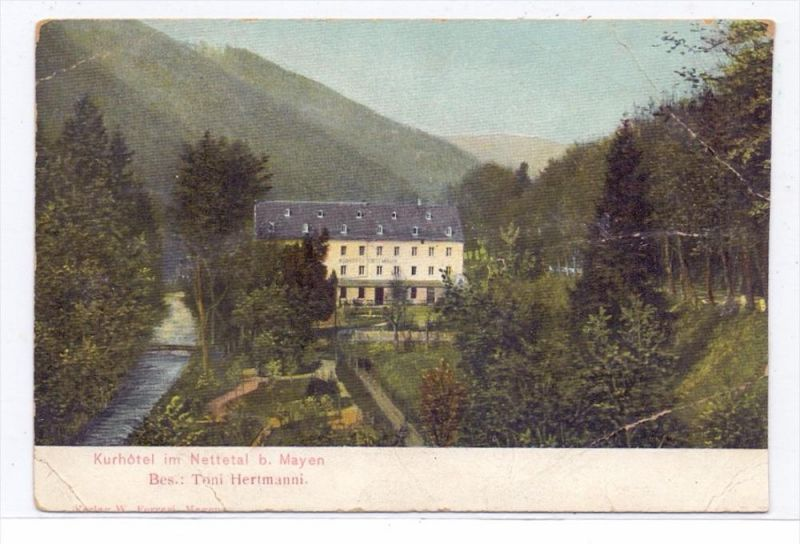 5440 MAYEN, Mehrbild-AKKurhotel im Nettetal, 1914, Druckstelle