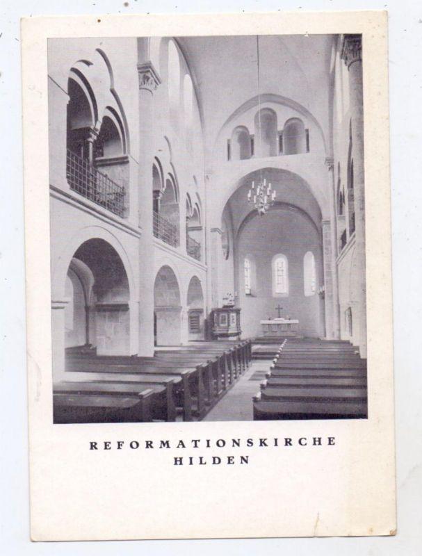 4010 HILDEN, Reformationskirche, Innenansicht, keine AK-Einteilung, kl. Einriss