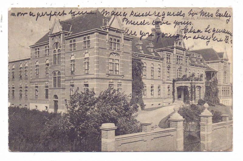 4060 VIERSEN, Allg. Krankenhaus, 1909, Mittelknick