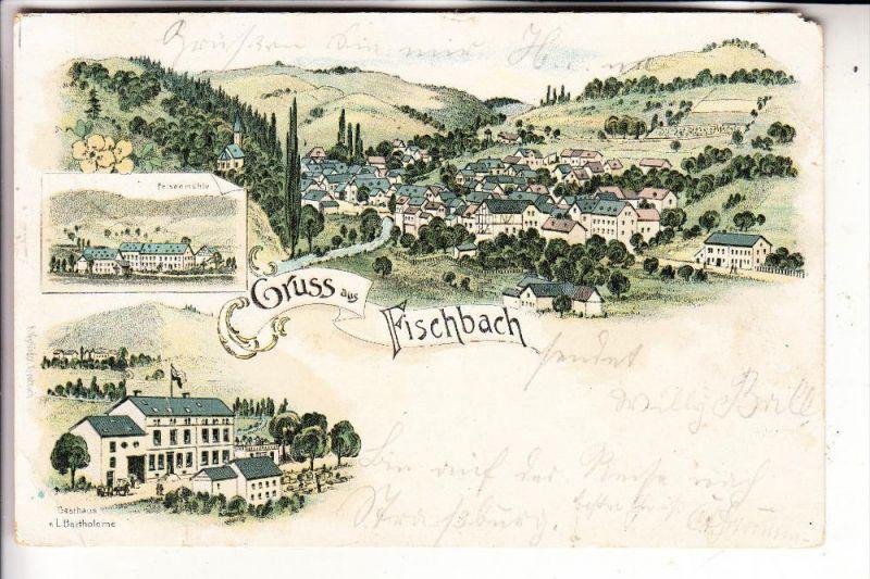 6583 HERRSTEIN - FISCHBACH, Lithographie 1897, kl. Eckmangel
