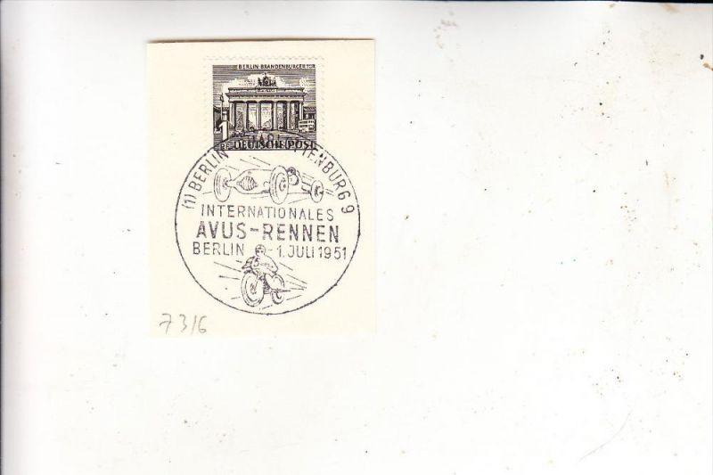 MOTORRAD - Internationale AVUS - Rennnen, Sonderstempel 1951