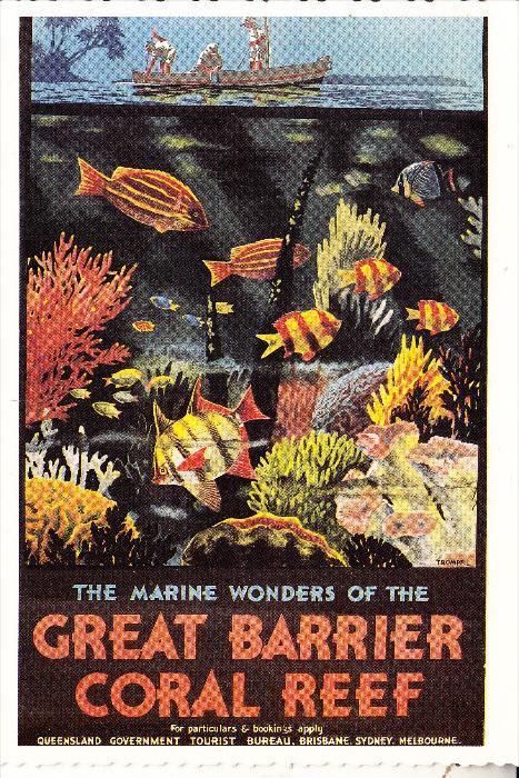 AUSTRALIA / AUSTRALIEN, QUEENSLAND, Great Barrier Coral Reef, modern advertising