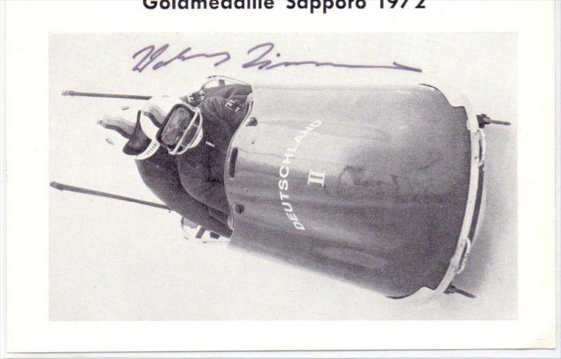 WINTERSPORT - BOB - Wolfgang Zimmerer, Goldmedaille Saporro, Original-Autogramm
