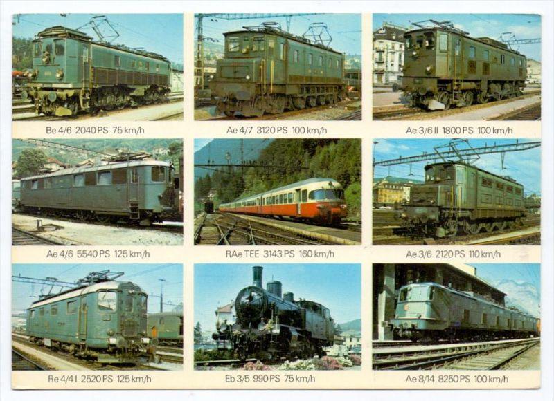 EISENBAHN / Railway / Chemin de Fer / Ferrocarril / Ferrovia / Spoorweg - Schweizer Lokomotiven