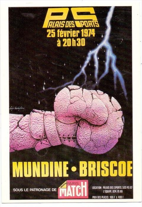 SPORT - BOXEN - Kampf Mundine - Brisoe, Paris 1974, Auflage 1000