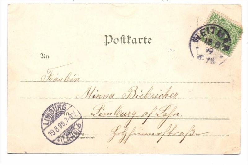 4630 BOCHUM - WEITMAR, Postgeschichte, Einkreis-Stempel 1899