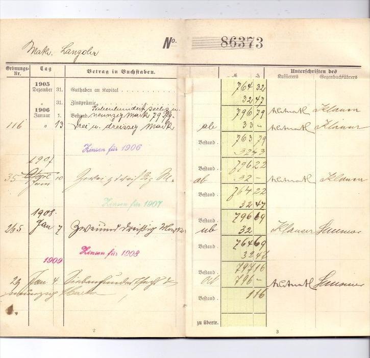 5100 AACHEN, Prämien-Büchlein, Aachener Verein zur Förderung der Arbeitsamkeit, 1905, im Folder 3