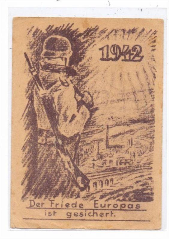 MILITÄR - 2.Weltkrieg, 1942, Neujahrskarte, Propaganda