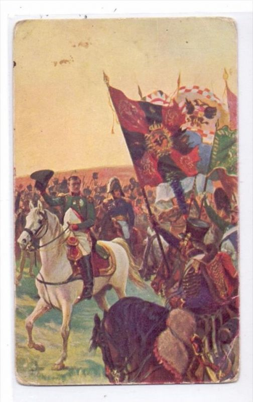 NAPOLEON - Salut au drapeaux, russische Karte