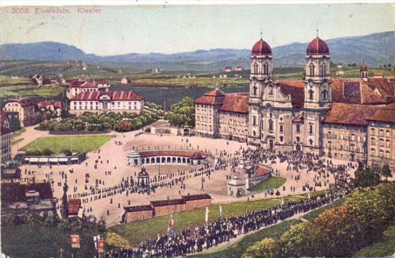 CH 8840 EINSIEDELN, Kloster, Prozession, 1925