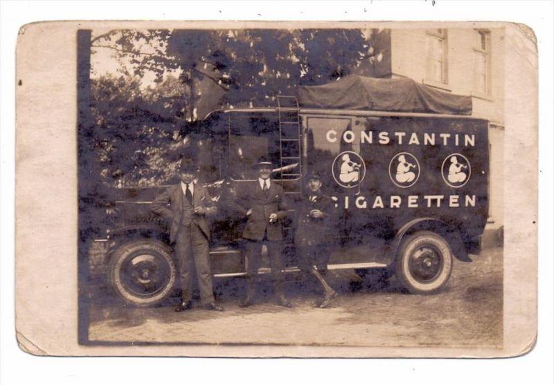 0-8000 DRESDEN - STRIESEN, Jasmatzi - Zigarettenfabrik, Lieferwagen Constantin Cigaretten, Photo-AK