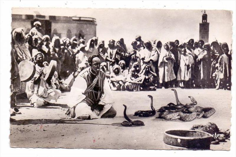 TIERE - SCHLANGEN BESCHWÖRER / Charmeur de serpents / Snake Charmer / Slangenbezweerder - Maroc, 1950