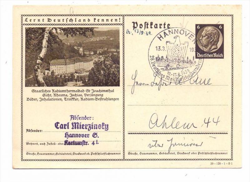 SPORT - RUDERN / Rowing - Sonderstempel 28. Deutsches Meisterschaftsrudern, Hannover, 1939