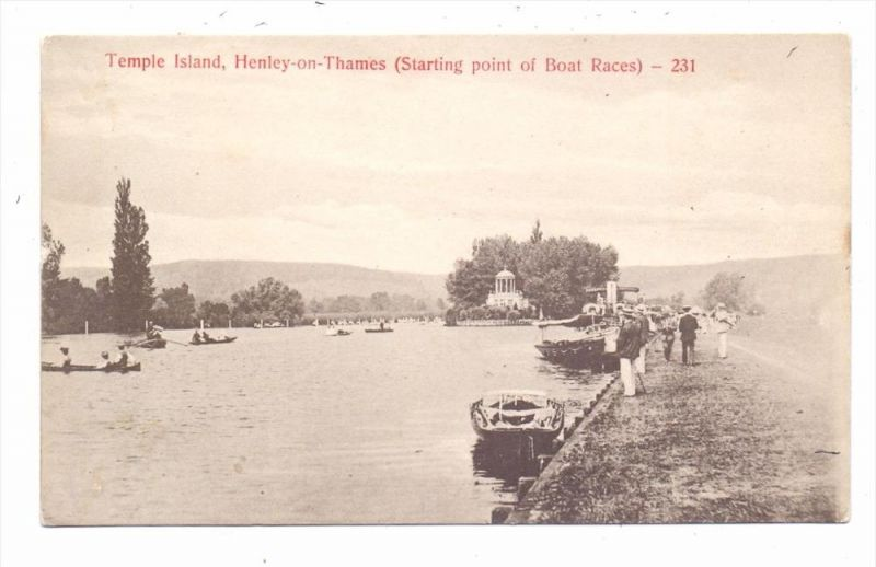 SPORT - RUDERN / Rowing - Henley, starting point of boat races