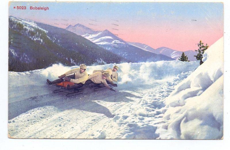 WINTERSPORT - Vierer-Bob, Bobsleigh, Schweiz, 1914