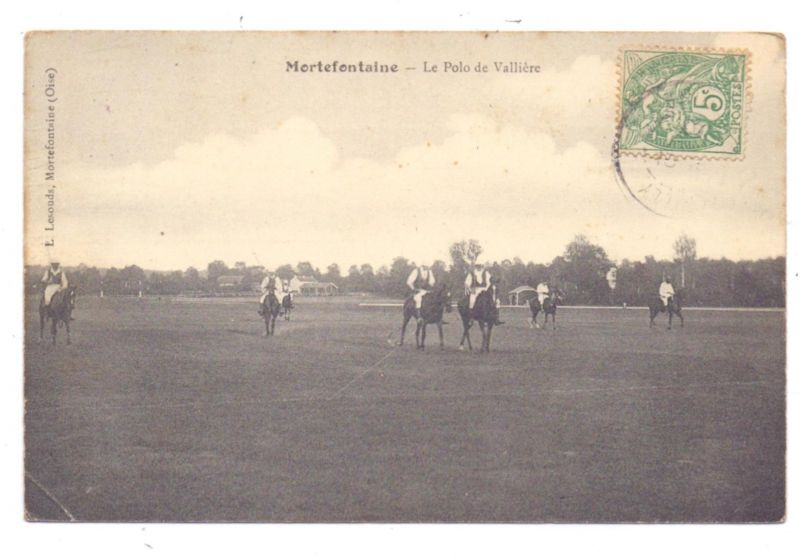 REITSPORT - POLO, Mortefontaine, 1907, kl. Knick