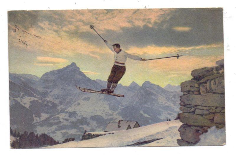 SPORT - SKI, Ein Quersprung, 1930