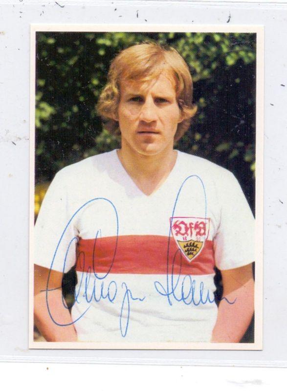 SPORT - FUSSBALL- VFB STUTTGART - HANS (BUFFY) ETTMAYER, Sammelbild 1972, Autogramm