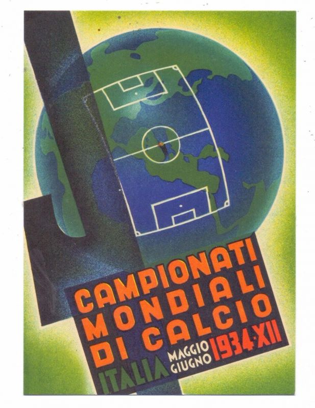 FUSSBALL - Plakat WM Italien 1934, modern