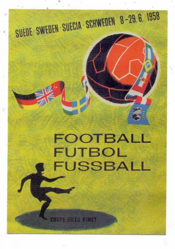 FUSSBALL - Plakat WM SCHWEDEN 1958, modern