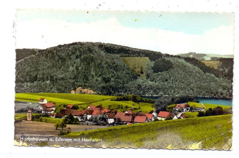 3546 VÖHL - HARBSHAUSEN / Edersee, Ortsansicht, kl. Druckstelle