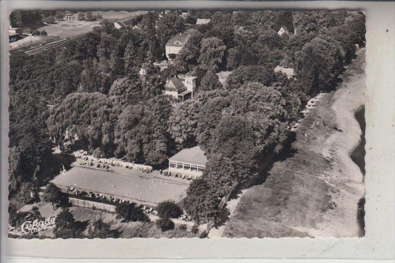 5484 BAD BREISIG - NIEDERBREISIG, Thermalschwimmbad, Luftaufnahme, 1955