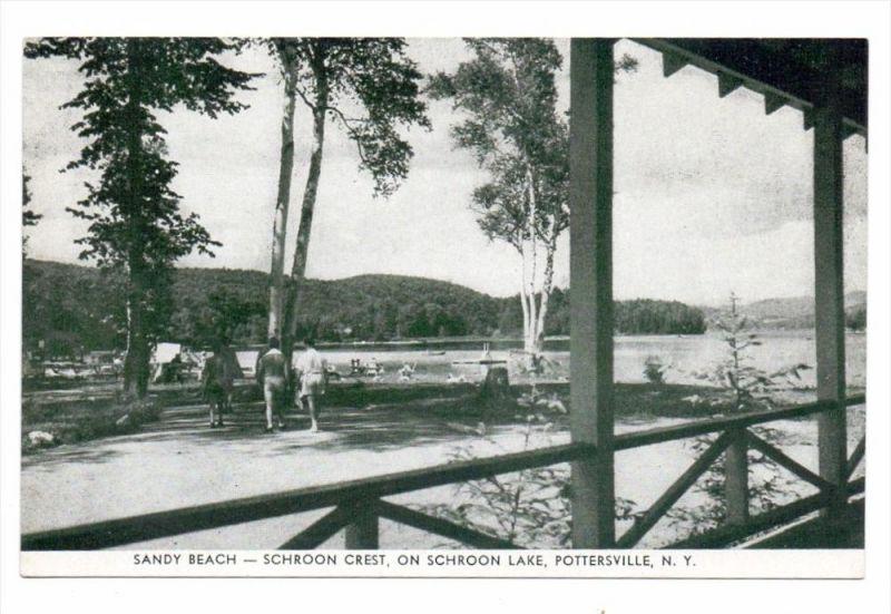 USA - NEW YORK - POTTERSVILLE, Schroon Crest, Sandy Beach on Schroon Lake 0