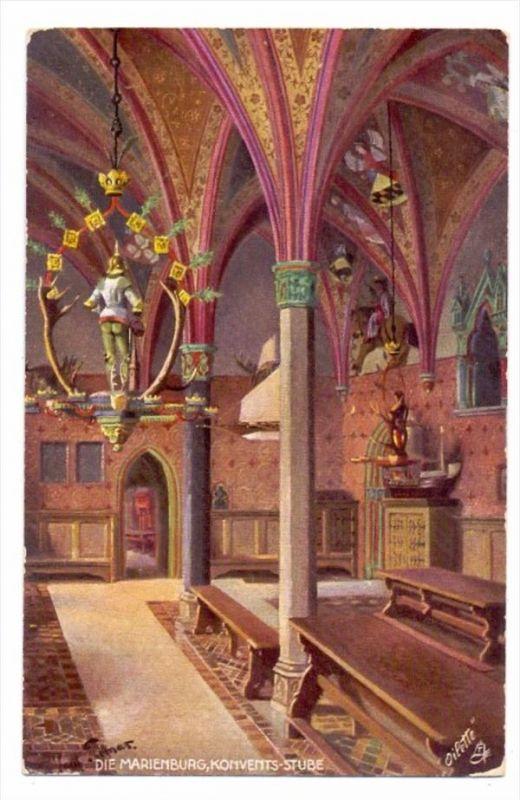 WESTPREUSSEN - MARIENBURG / MALBORK, Konvents-Stube, Künstler-Karte, Tuck Oilette 0