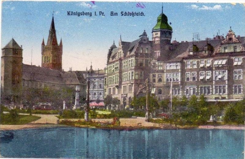 OSTPREUSSEN - KÖNIGSBERG / KALININGRAD, Schlossteich, 1918, deutsche Feldpost