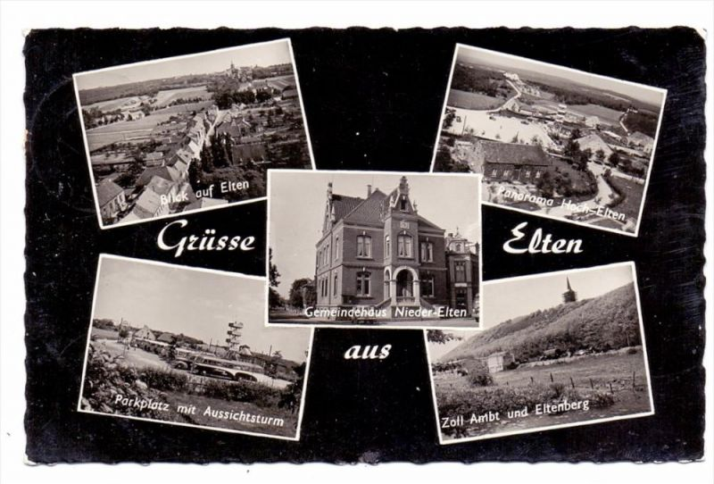 4240 EMMERICH - ELTEN, Zollamt, Gemeindehaus Nieder-Elten..., 1958