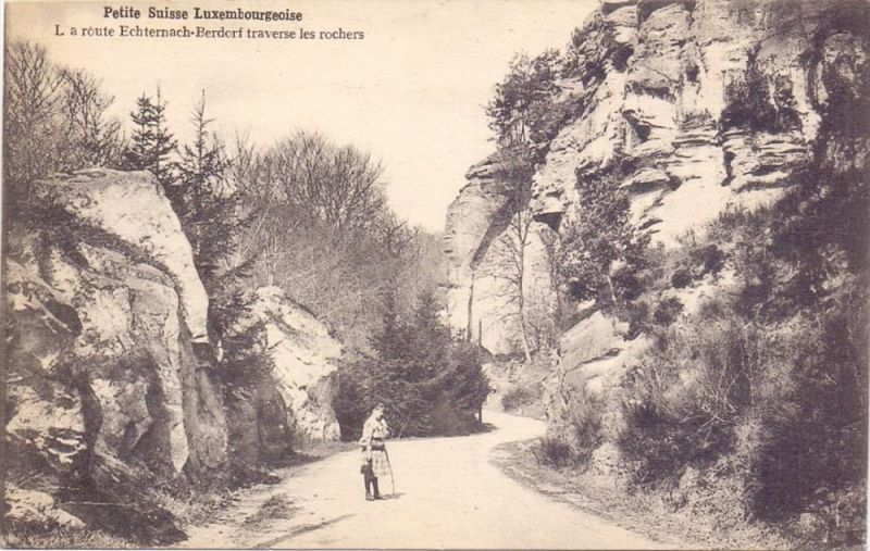 L 6552 BERDORF, Luxemb. Schweiz, Route Echternach - Berdorf, Bellwald # 603