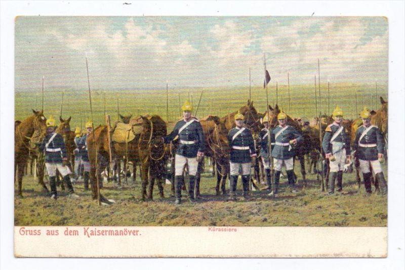 MILITÄR - Kaisermanöver, Ulanen, ca. 1905, ungeteilte Rückseite