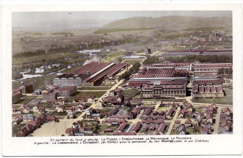 AUTO - PEUGEOT, Centre de Production, Sochaux, vue airienne