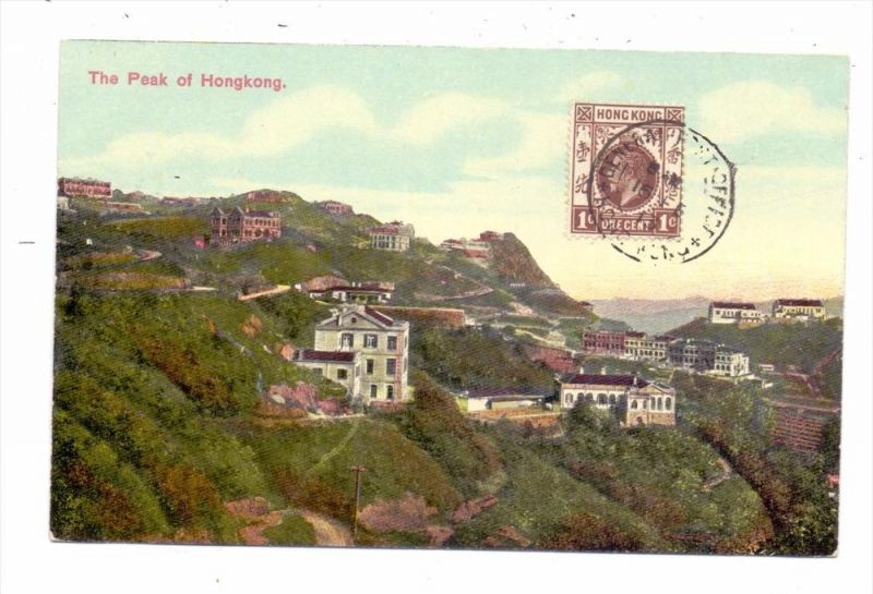 CHINA - HONGKONG, Peak of Hongkong, 1913