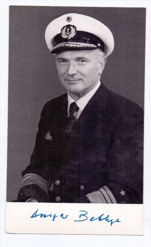 MILITÄR - BUNDESWEHR - Ansgar Bethge, Vizeadmiral & Inspekteur der Marine, Autograph
