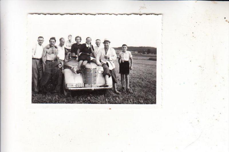 AUTO - Oldtimer Cabrio, NS-Stander, Photo Kreidler Horb, Photo 6,4 x 9 cm