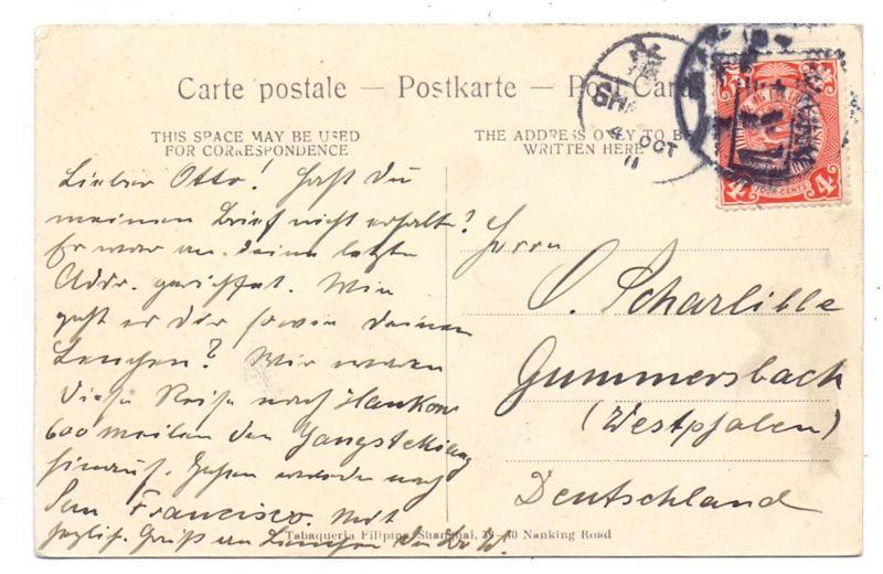 CHINA - SHANGHAI, German Club Concordia, 1911 1