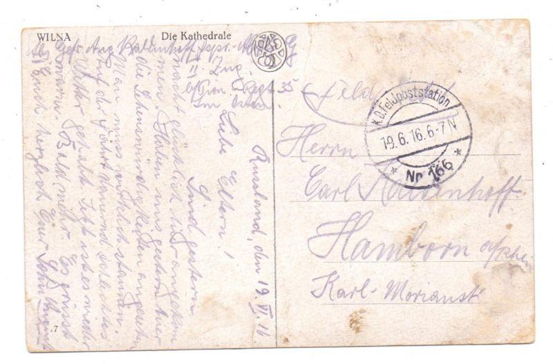 LIETUVA / LITAUEN - VILNIUS / WILNA, Kathedrale, deutsche Feldpost, 1916 1