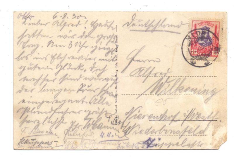 LIETUVA / LITAUEN - 1930, Michel 297, AK Kurische Nehrung, Poststempel NIDA, Eckmangel