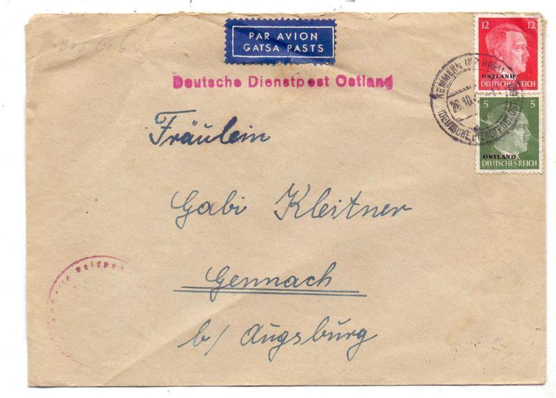 LATVIJA / LETTLAND - Deutsche Dienstpost Osten / Kemmern Kreis Riga, Feldpost No. 13190B (Heeresbaudienststelle)